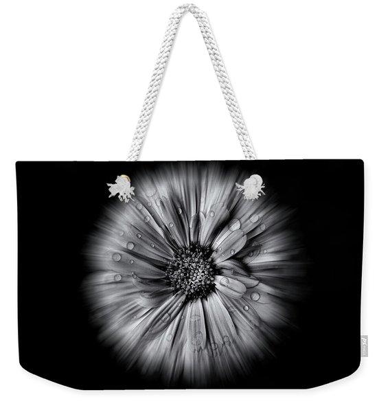 Backyard Flowers In Black And White 10 Flow Version Weekender Tote Bag