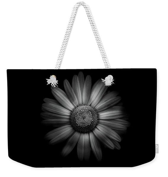 Backyard Flowers In Black And White 31 Weekender Tote Bag
