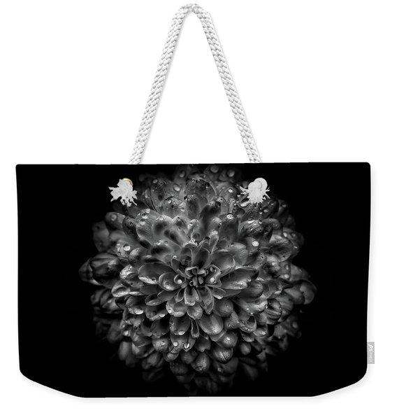 Backyard Flowers In Black And White 46 Weekender Tote Bag