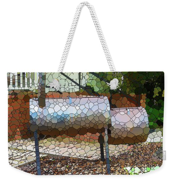 Backyard Grill 2 Weekender Tote Bag
