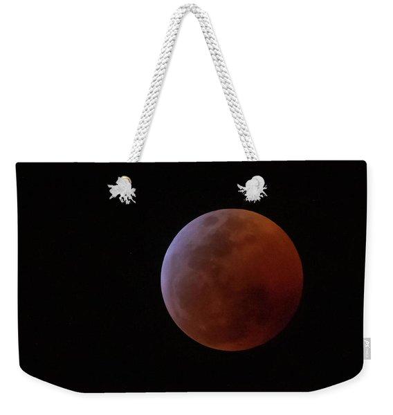 Bahamian Super Blood Wolf Moon Weekender Tote Bag