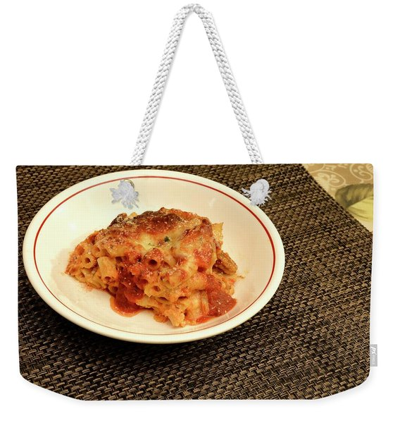 Baked Ziti Serving 1 Weekender Tote Bag
