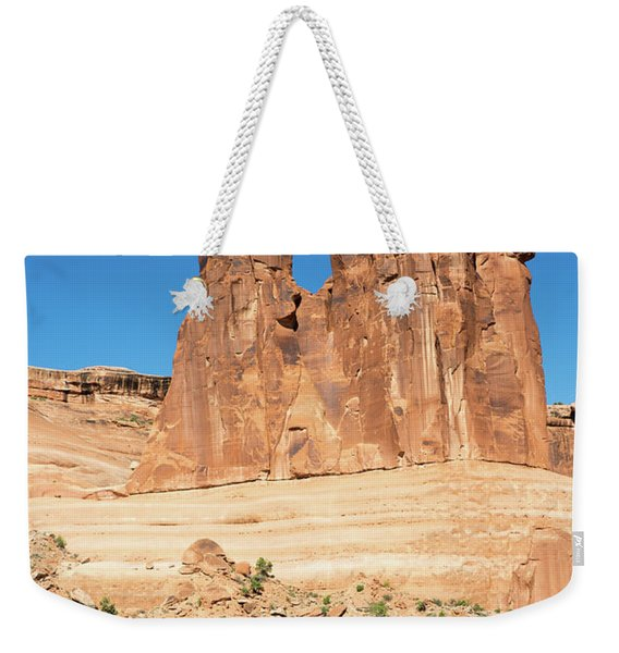 Balanced Rocks In Arches Weekender Tote Bag