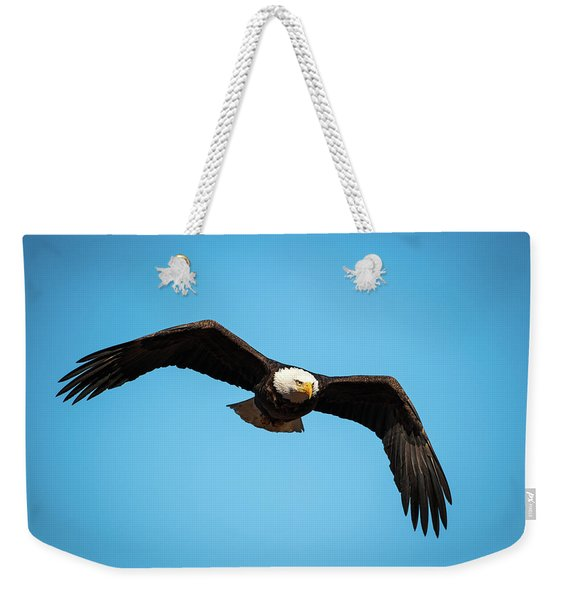 Bald Eagle In Flight  Weekender Tote Bag