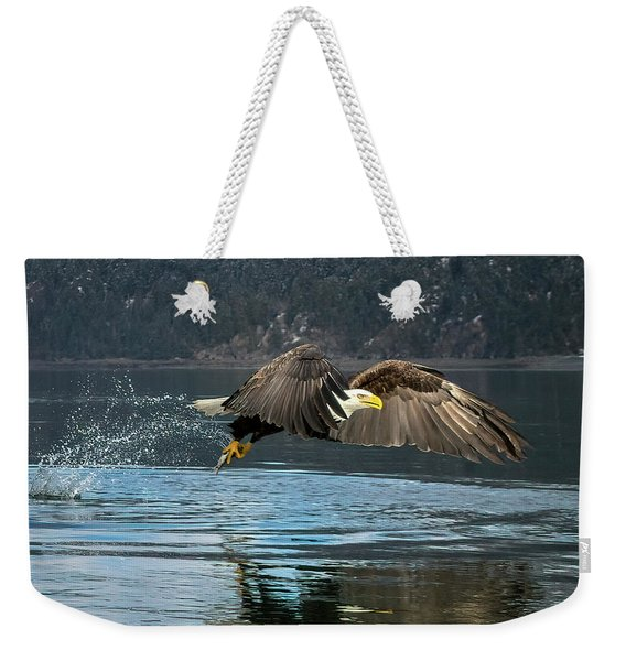 Bald Eagle With Catch Weekender Tote Bag