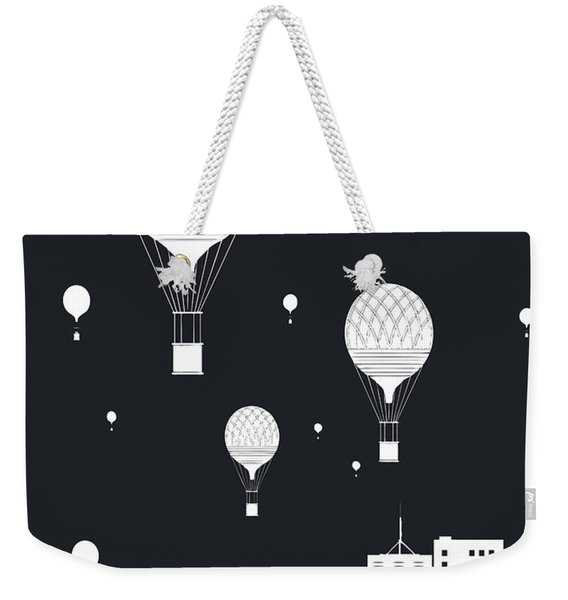 Balloons And The City Weekender Tote Bag