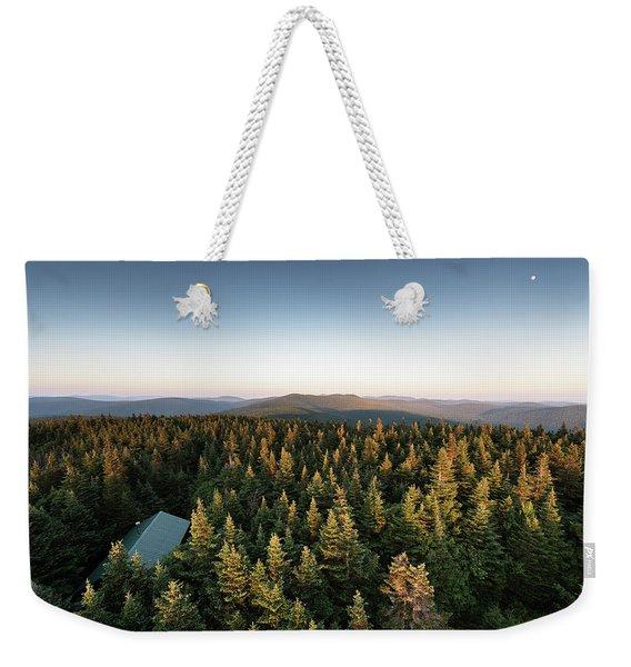 Balsam Lake Mountain Sunset Moon Weekender Tote Bag