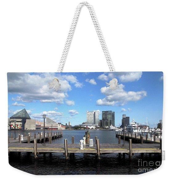 Baltimore Harbor East View Weekender Tote Bag