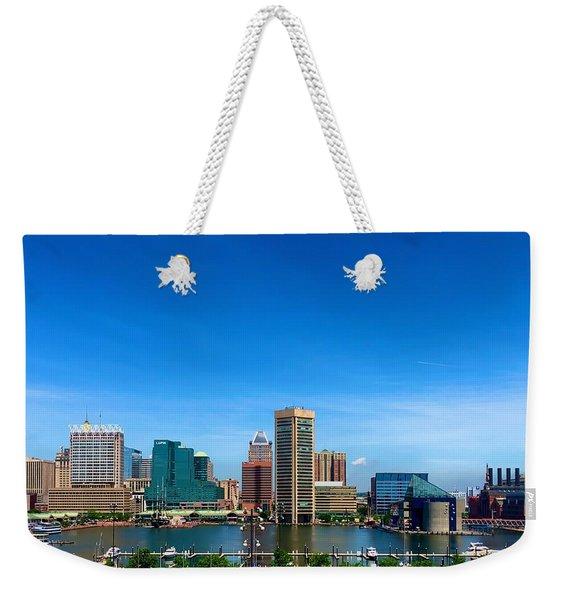 Baltimore Skyline Weekender Tote Bag