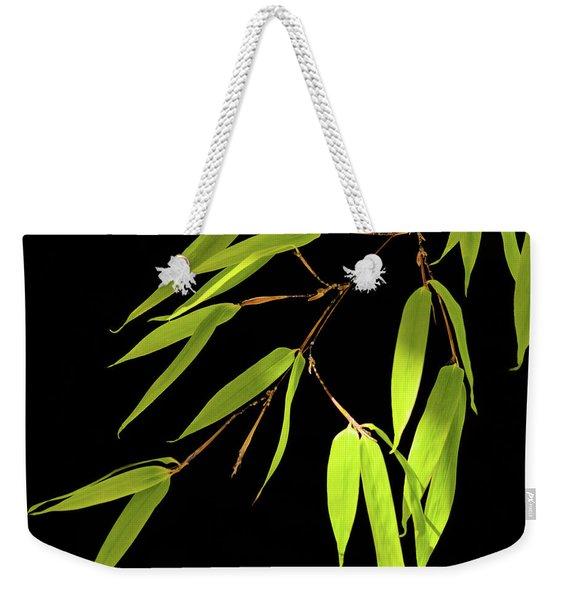 Bamboo Leaves 0580a Weekender Tote Bag