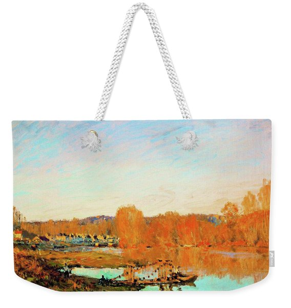 Banks Of The Seine Near Bougival - Digital Remastered Edition Weekender Tote Bag