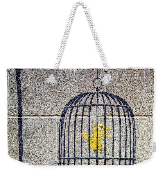 Banksy Bird Cage Detroit Weekender Tote Bag