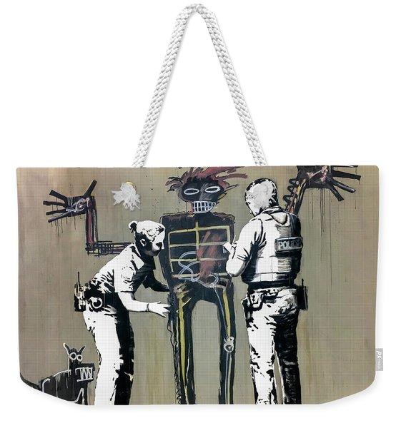 Banksy Coppers Pat Down Weekender Tote Bag