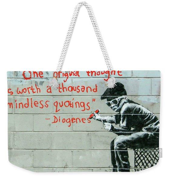 Banksy Diogenes Weekender Tote Bag