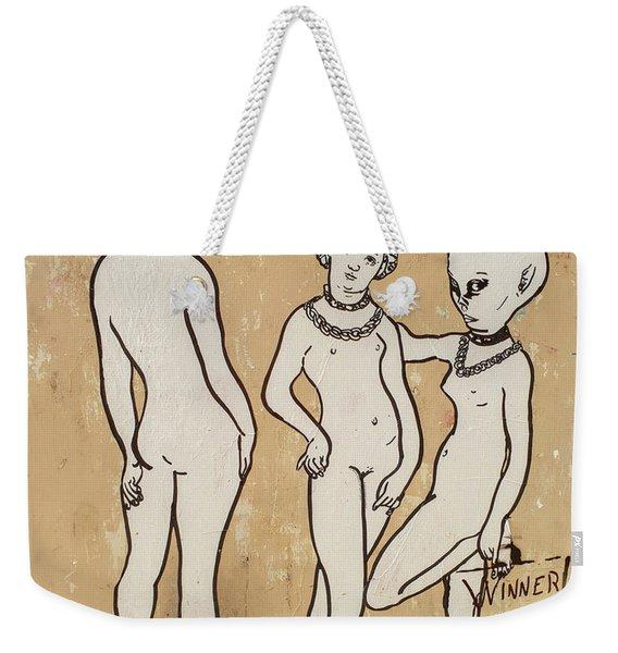Banksy Paris Winner Take All Weekender Tote Bag