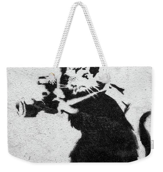 Banksy Rat With Camera Weekender Tote Bag