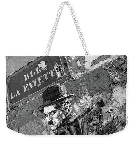 Banksy Rue La Lafayette Weekender Tote Bag