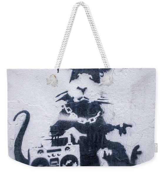 Banksy's Gansta Rat Weekender Tote Bag