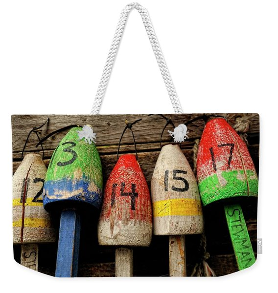 Bar Harbor Bouys Weekender Tote Bag
