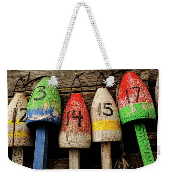 Bar Harbor Bouys Weekender Tote Bag