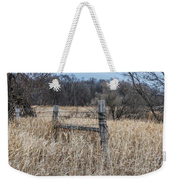 Barbed Wire Fence Weekender Tote Bag