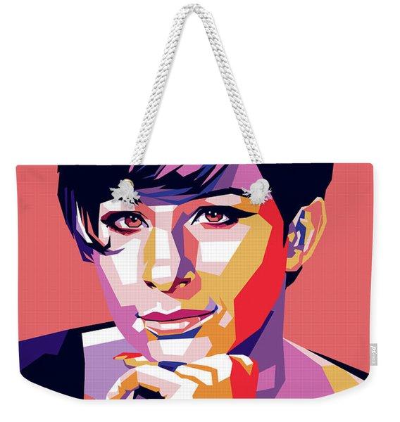 Barbra Streisand Pop Art Weekender Tote Bag