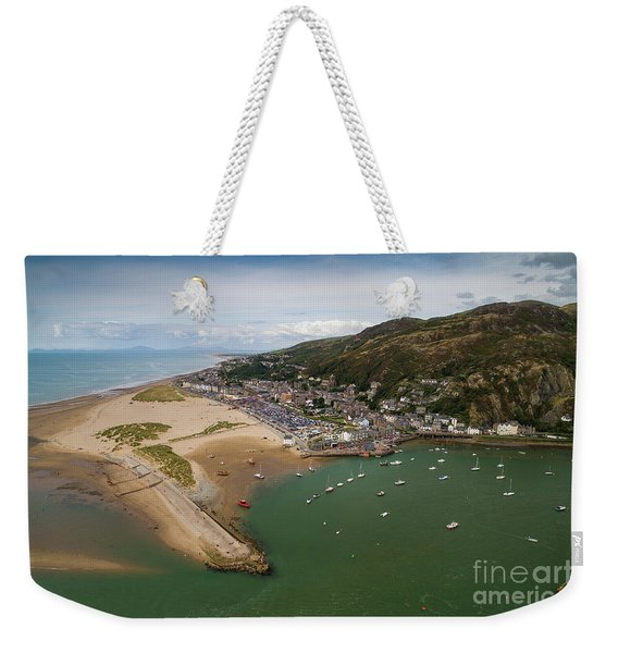 Barmouth Wales From The Air Weekender Tote Bag