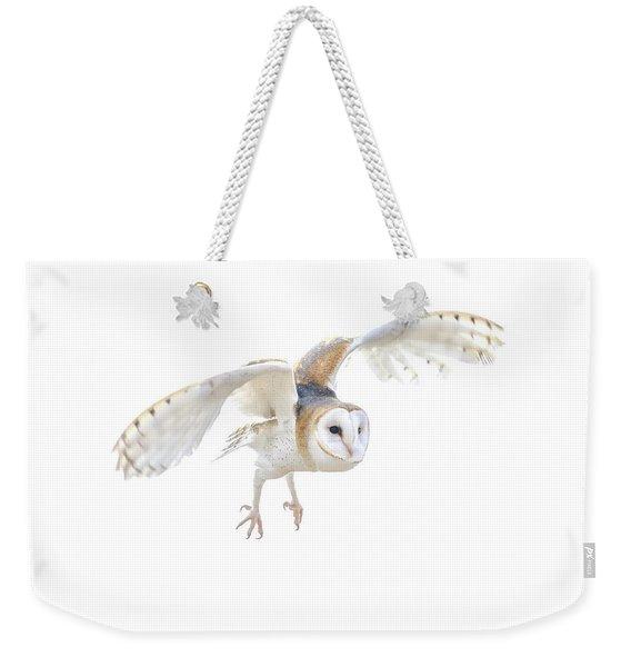 Barn Owl In Flight Weekender Tote Bag