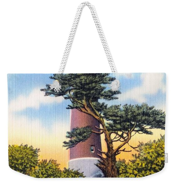 Barnegat Light - With Text Weekender Tote Bag