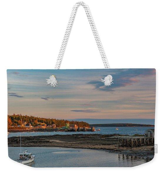 Bass Harbor Sunset Weekender Tote Bag