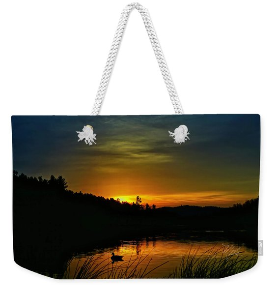 Bass Lake Sunrise Duck Weekender Tote Bag