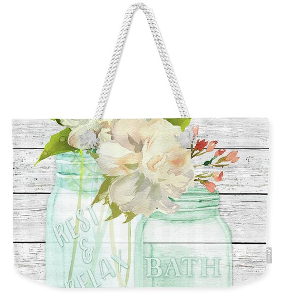 Bath Time Mason Jars D Weekender Tote Bag