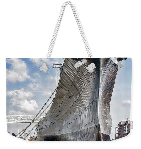 Battleship Uss Wisconsin Bb64 Weekender Tote Bag
