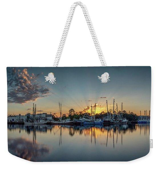 Bayou Rays Panorama Weekender Tote Bag
