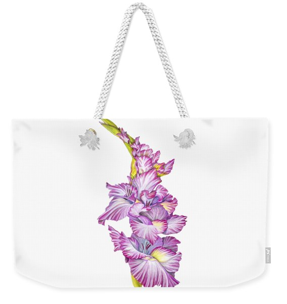 Weekender Tote Bag featuring the drawing Be Glad by Nancy Cupp