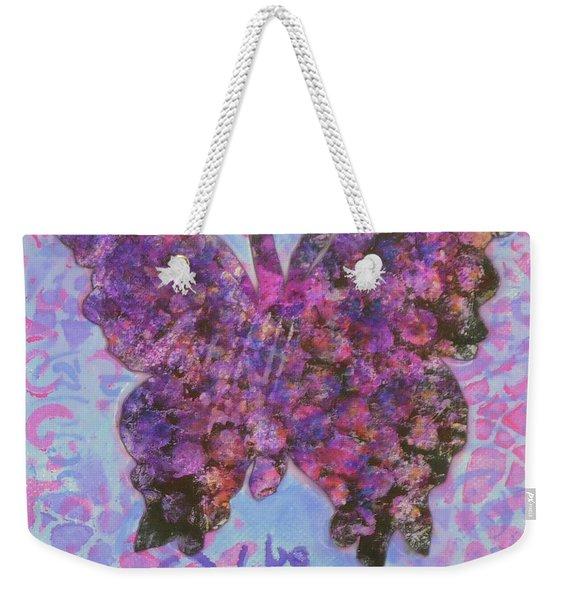 Be Happy 2 Butterfly Weekender Tote Bag