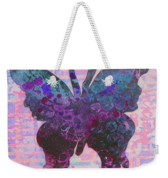 Be Happy Butterfly Weekender Tote Bag