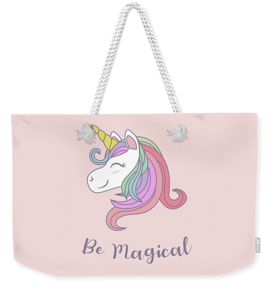Be Magical - Baby Room Nursery Art Poster Print Weekender Tote Bag