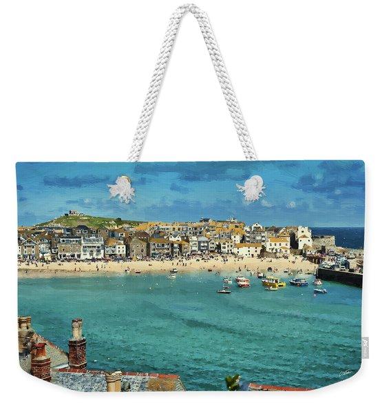 Beach From Across Bay St. Ives, Cornwall, England Weekender Tote Bag