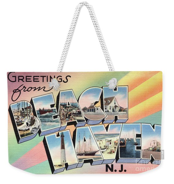 Beach Haven Greetings Weekender Tote Bag