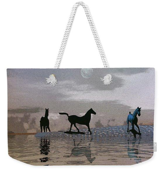 Beach Of Wild Horses Weekender Tote Bag
