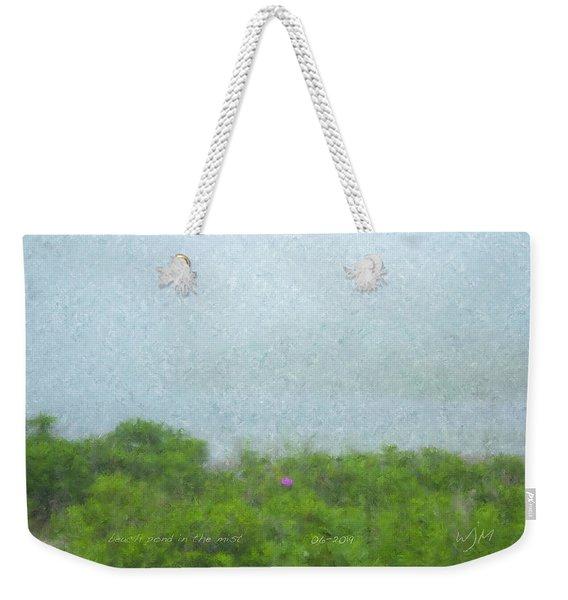 Beach Pond In The Mist Weekender Tote Bag
