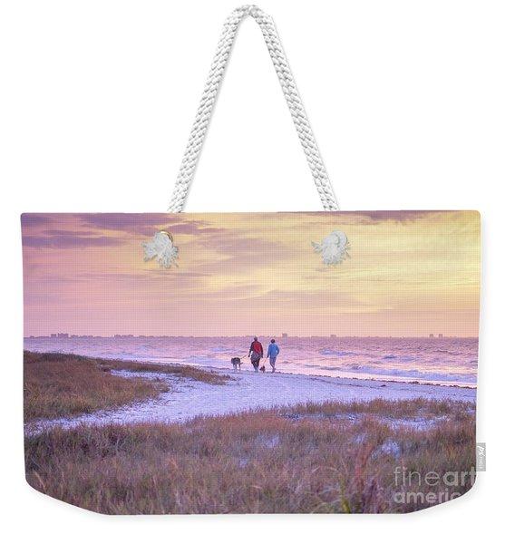 Sunrise Stroll On The Beach Weekender Tote Bag