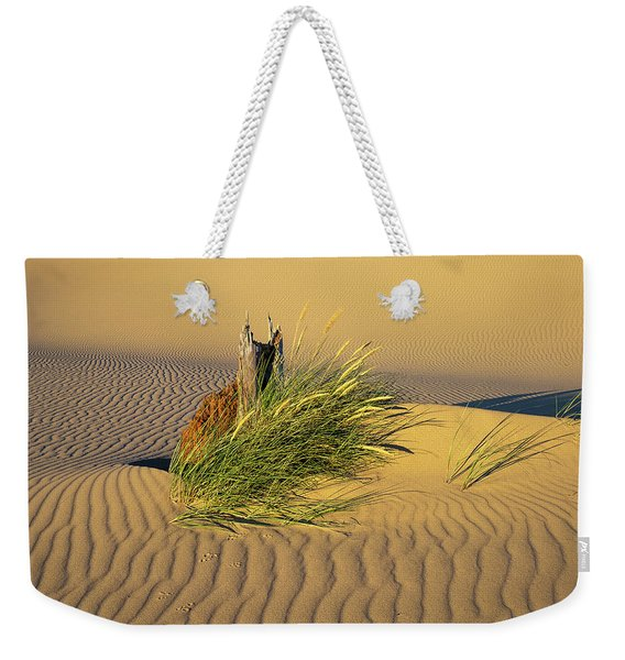 Beachgrass And Ripples Weekender Tote Bag