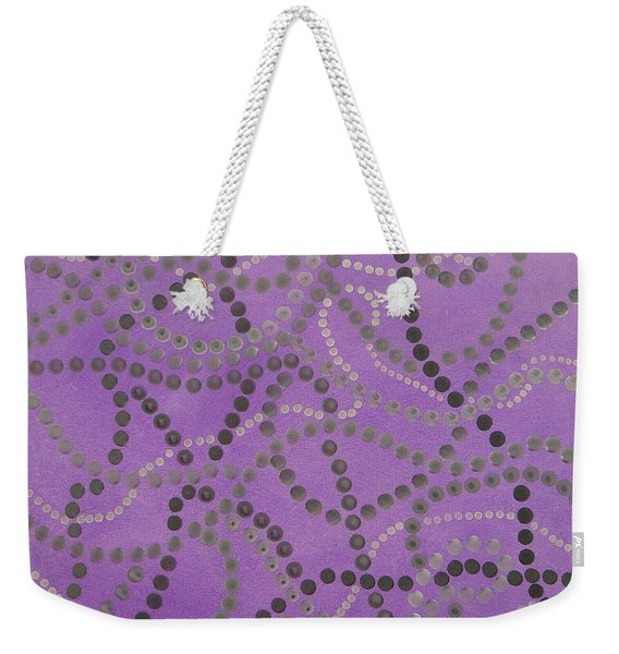 Beads And Pearls - Gray Weekender Tote Bag