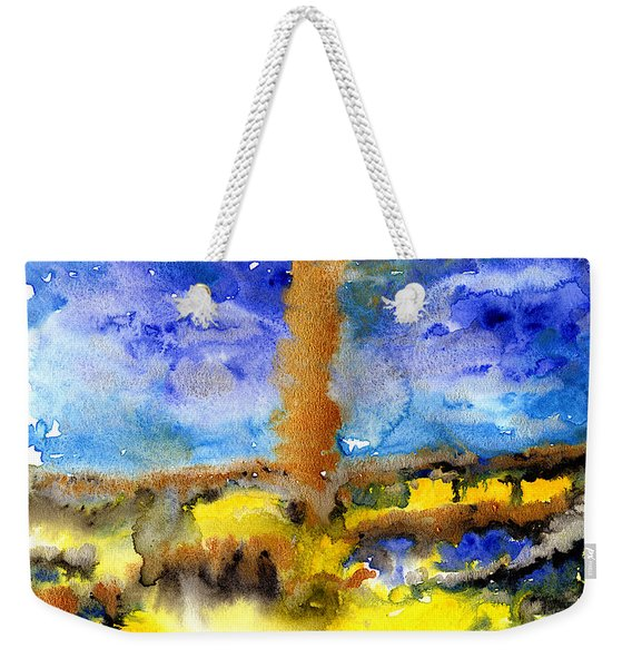 Weekender Tote Bag featuring the painting Beam Of Light by Bee-Bee Deigner