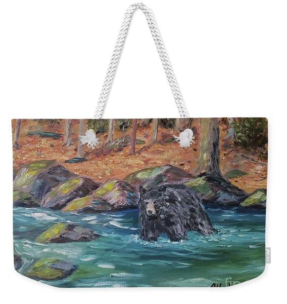 Bear Crossing Weekender Tote Bag