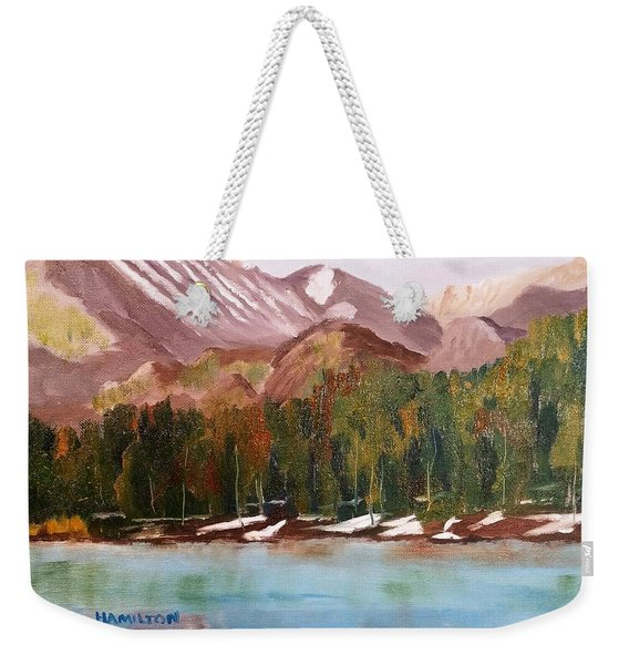 Bear Lake And The Keyboards Weekender Tote Bag