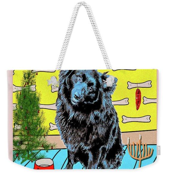 Bear Paw Holiday Weekender Tote Bag