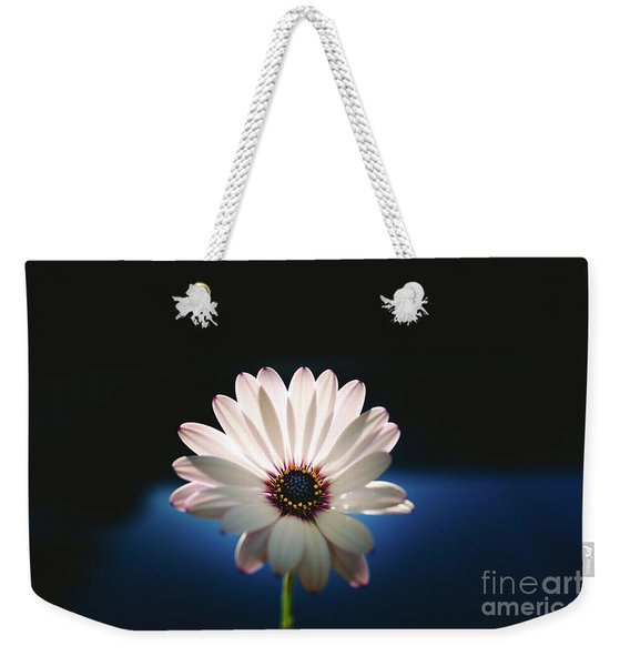 Beautiful And Delicate White Female Flower Dark Background Illum Weekender Tote Bag